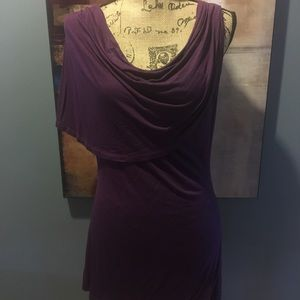 Asymmetrical Drape Shoulder Top